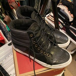 Like New Vans All Weather Leather high top